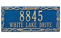 "Sailor&#39s Knot Address Plaque 17"" x 7.25"""