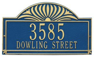 "Sunburst Address Plaque 16.25"" x 9.5"""