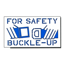 Buckle up for Safety Stencil