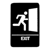 "Exit Braille Sign 9""x6"""