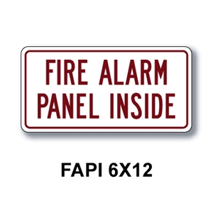 "Fire Alarm Panel Inside 6""x12"""