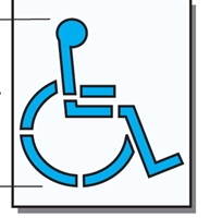 "Florida FDOT 36"" DISABLED - SYMBOL STENCIL #S-3632-D"
