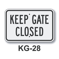 Keep Gate Closed 12 x 18 KG-28