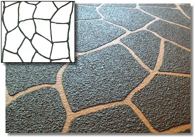 Natural Stone Duro Stencil Kit 4pc