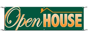 Open House Banner 3 x 10 ft with ropes