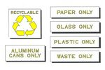 Recycling Durolast Symbol Stencil Kit, 6 pc