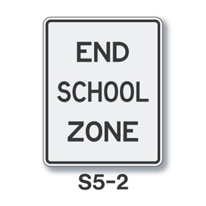 End School Zone Sign S5-5