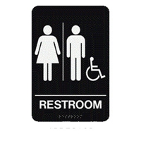 "Unisex/HC/Restoom 9 Braille Sign 9""x6"""